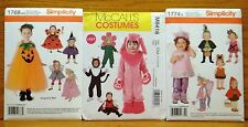 Lot 3 COSTUME Sewing PATTERN Simplicity 1768 & 1774 & McCall's 6416 1/2-4T NEW F