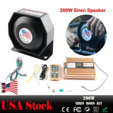 200W Car Truck Warning Alarm Police Fire Siren Horn Loud Speaker System Kit US