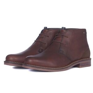 Barbour Men's Readhead Leather Chukka Boots Teak Brown Lace Up Sizes 7 8 9 10