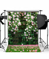 Wedding Photo Background Flower Vinyl Romantic Photography Backdrops 5x7FT GQ205