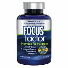FOCUSfactor Dietary Supplement 150 Tablets Memory Concentration Brain Health NEW