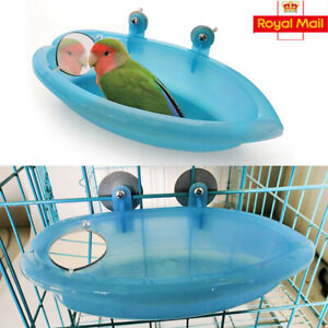 Classic Bird Bath for Caged Birds Aviary Birds Budgie Finches Canaries UK STOCK