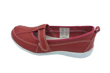 Ladies Shoes Cherry Port Black or Red Leather Casual work Shoe New Size 5-10