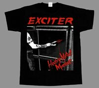 EXCITER HEAVY METAL MANIAC'83 NEW BLACK SHORT/LONG SLEEVE T-SHIRT