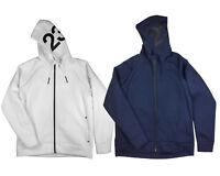 Air Jordan Mens Flight Tech Shield Full Zip Hoodie Jacket Navy Navy/White 883983