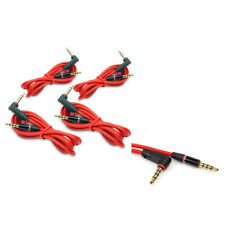 4X 3FT 3.5MM AUX AUDIO STEREO CABLE CORD RED FOR APPLE IPHONE 5 4S IPOD CLASSIC