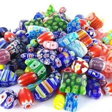 125grams  Assorted Colors Millefiori Rainbow Mosaic Glass Beads