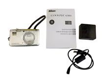 Nikon COOLPIX A300 20.1MP Digital Point & Shoot Camera Silver + 8Gb card