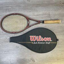 """Vintage Wilson Jack Kramer Staff Graphite Composite Tennis Racquet 4 3/8"""" Grip"""