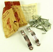 Lot Art Deco Cabinet Catch Pulls Red Stripe National Lock N61-3333A Vintage Pair