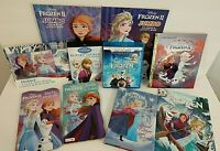 Disney Frozen collectors dvd bluray novel board books coloring comic 10 pc Lot