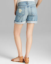 NEW Koral Morgan Baggy Shorts Distressed Denim High Rise Size 28 $198 Z2144