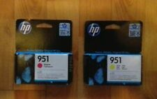 GENUINE HP 951 MAGENTA CN051AE & YELLOW CN052AE INK CARTRIDGES. 2020, NEW