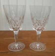 WATERFORD CRYSTAL LISMORE GOBLETS X2 BRAND NEW & UNUSED BARGAIN!!!