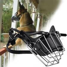 Muzzle Cage Adjustable Dog No Bite Bark Basket Mouth Anti Chew Mesh Cover SU