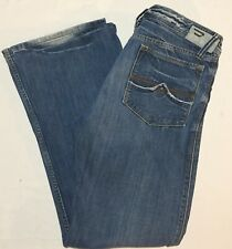 Diesel Zaf Bootcut Medium Blue Wash Button Fly Denim Jeans - 32x30 Fits 34x30