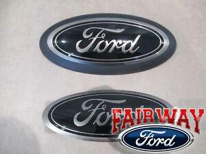 18 thru 20 F-150 OEM Genuine Ford Smoke Chrome and Black Oval Kit w/o Camera