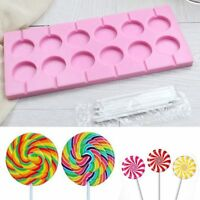 12 Grids Silicone Round Candy Chocolate Mould Lollipop Mold Bakeware DIY Gadgets