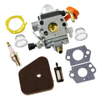 Carburetor + Gaskets + FUEL PIPE For STIHL FS90 FS90K FS90R Trimmer Parts