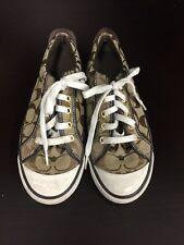 Coach Barrett Brown/Beige Tennis Sneakers Shoes 7.5