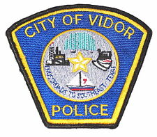 VIDOR TEXAS TX Police Sheriff Patch CROSSROADS OIL WELL SAIL BOAT SPEED BOAT ~