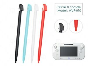 4 x Black Red Blue Replacement Stylus Pen for Nintendo Wii U Console WUP-015