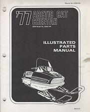 1977 ARCTIC CAT SNOWMOBILE CHEETAH 5000 P/N 0185-076 PARTS MANUAL (056)