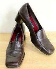 Etienne Aigner Brown Leather Pumps High Heel Dress Shoes Women's Size 7.5 M