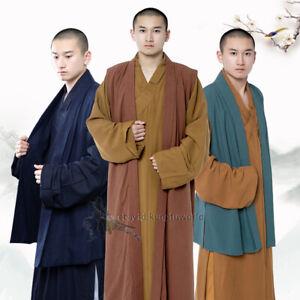 Shaolin Kung fu Buddhist Monk Vest Wushu Martial arts Tai chi Suit Beautiful