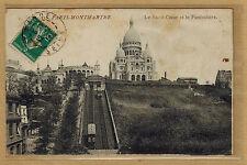 Cpa Paris Montmartre - le Sacré Coeur et le funiculaire rp0412