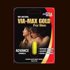 VIA MAX GOLD HERBAL Enhancer Supplement 10 Pills USA 3000 series Free Shipping