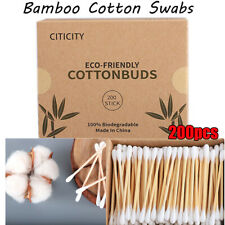 Wooden Nose Ears Cleaning Sticks Ear Swab Cotton Buds Bamboo Cotton Swab