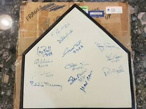 Major league home plate signed by 3000 hit club members w/COA - priced to sell