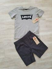 Levi's 2pc grey T shirt & shorts boy set size 4 5 years NWT levi Strauss