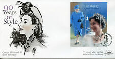 Tristan da Cunha 2016 FDC Queen Elizabeth II 90th Birthday 1v S/S Cover Stamps