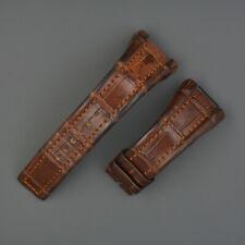 Genuine Bulgari Ergon Alligatore Bracelet Bracciale Strap 26,5mm MEN SIZE BROWN