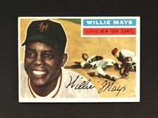 1956 Topps #130 Willie Mays EX-MT (COLORFUL CREASE-FREE NM-MT SURFACE!) SHARP!!