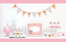 Pink Tea Party Birthday Party Baby Shower Decorations Starter Kit