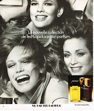 PUBLICITE  1976   TED LAPIDUS  parfum VU  2