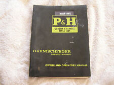 Harnischfeger Care Operation Manual model 430TC 1967