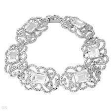 Krementz Designer 27.60ctw Topaz Bracelet Solid 925 Sterling Silver