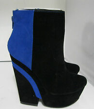 """new Privileged Black/Royal 5.5""""High Heel 2""""Platform Sexy Ankle Boot Size 6.5"""