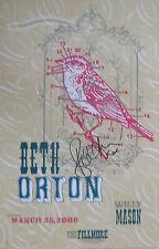 BETH ORTON Fillmore Poster SIGNED Original Bill Graham Willy Mason BGF768
