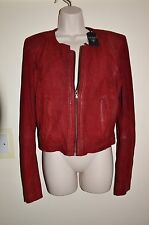 GUESS CANDIS REAL SUEDE LEATHER JACKET SIZE MEDIUM UK 10 AUTHENTIC