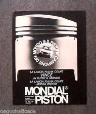 N427 - Advertising Pubblicità - 1968 - MONDIAL PISTON , LANCIA FULVIA COUPE'