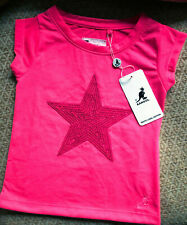 BNWT Genuine KANGOL Girls Pink Star T-Shirt Age 3-4