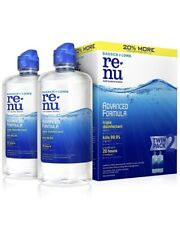 Bausch+Lomb Re Nu Advanced Formula Triple Disinfectant Twin Pack   R1 exp 3/22