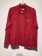 Nike Men's Manchester United Red Black Soccer Track Warm Up Jacket Size Medium