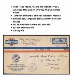 1928 US Airmail Cover Varney Airgram Hawaiian Islands Transpacific Sea Post
