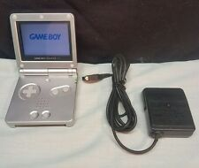 NINTENDO GAME BOY ADVANCE SP SILVER ASG-001 TESTED WORKS WELL
